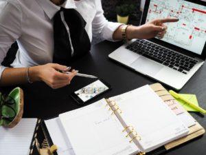 realtor agent showing real estate market trends