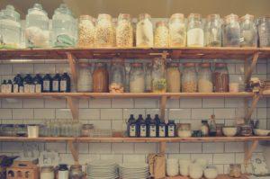 Shelf full of spices