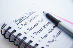 A to-do list that will help with stress-free move