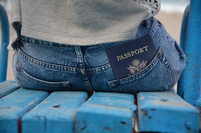 Passport in a pocket.