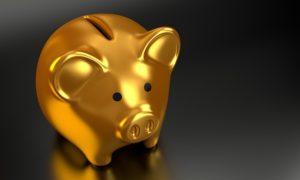 Golden piggy bank.