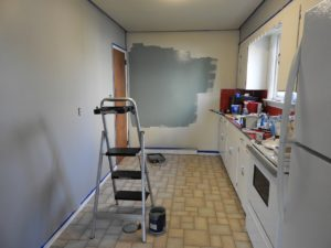A room that is being remodeled.