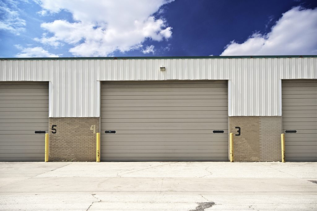 warehouse entrance; available place for renting a storage unit