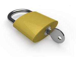 padlock with key inside