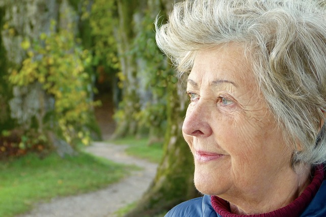 A woman thinking about moving for retirement.