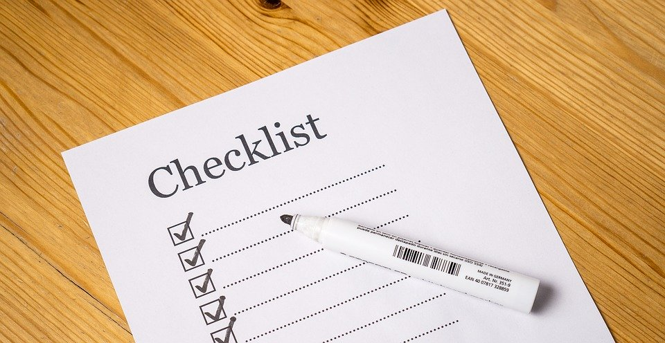 A checklist similar to packing suppliy checklist you need when moving.