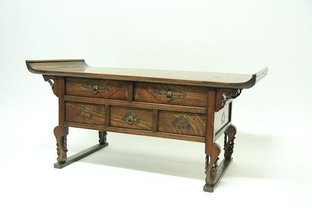 An antique furniture item.
