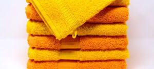 A pile of yellow towels.