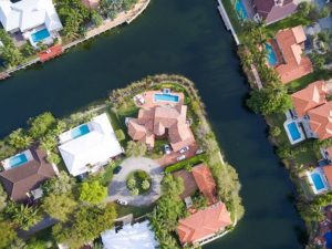 A bird's-eye view of a property in Miami.