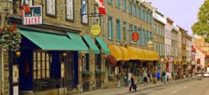 A street in Quebec, which is one of the best cities for singles in Canada.