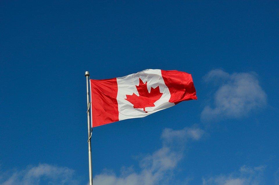 A Canadian flag.