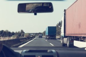 Vehicles on the road.