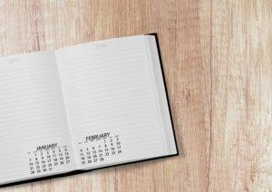 Agenda with a calendar.