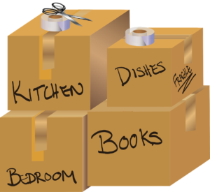 Properly packed and labeled cardboard boxes are one of the ways to avoid damaging the property when moving out.
