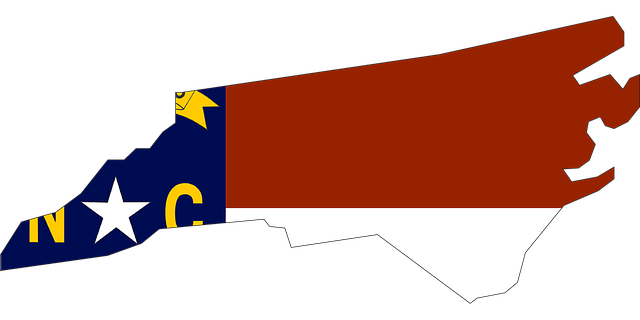 The flag of North Carolina