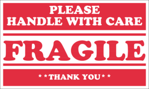 Label - fragile handle with care