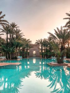 One of the beautiful pools you can visit or even own after moving to Boca Raton.