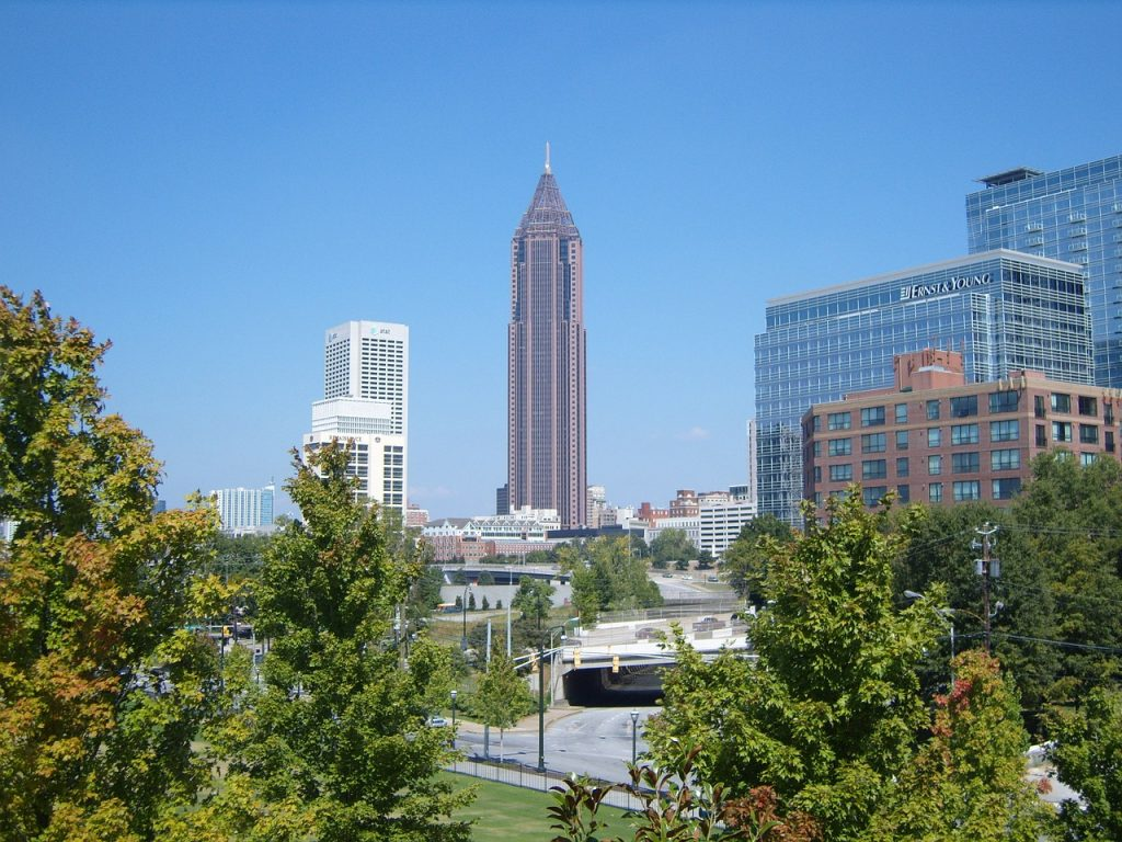 Downtown in Atlanta.