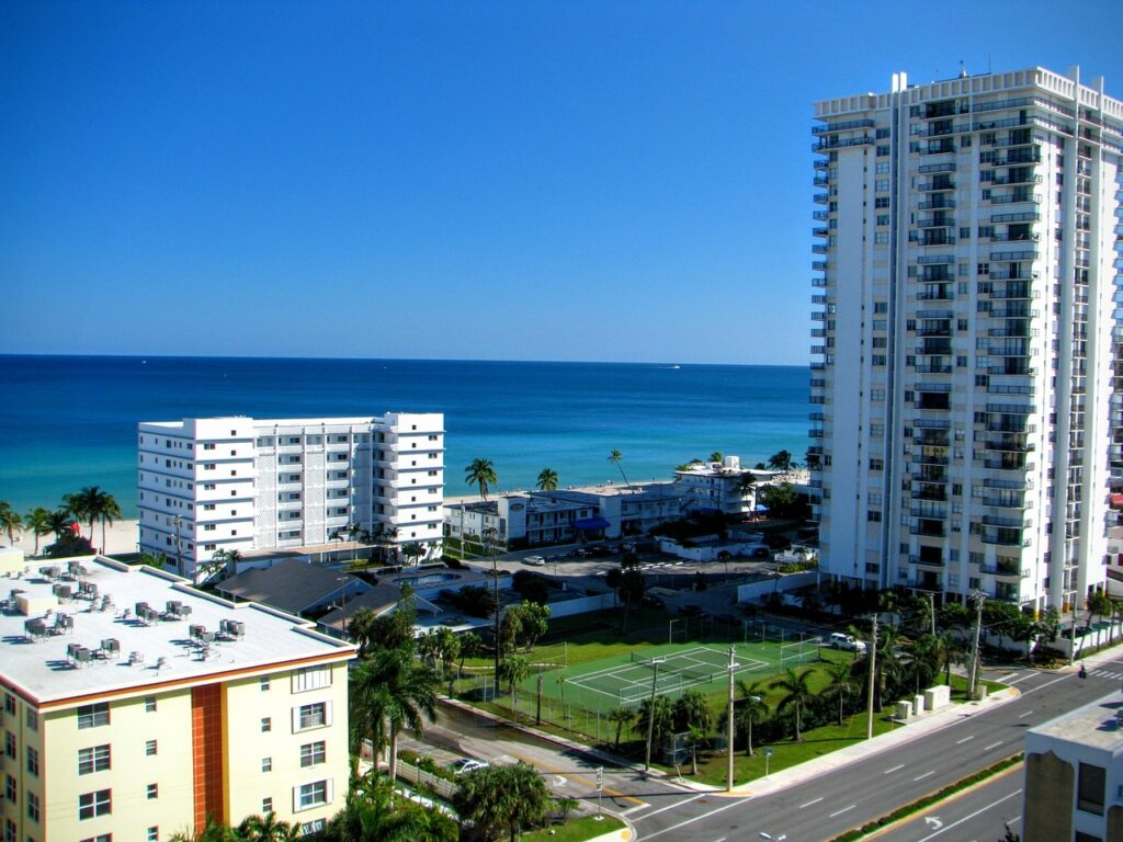 A view at Hollywood, FL, one of South Florida cities with the best quality of life.