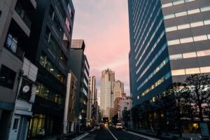 A street in Tokyo, one of the best cities in Japan for ex-pats.