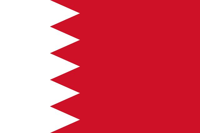 A flag of Bahrain.