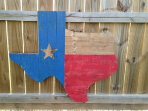 Texas Wooden Flag - 8 reasons to move to Texas