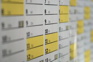 A calendar to set the exact date for getting portable storage containers which are one of the best storage options NYC has to offer.