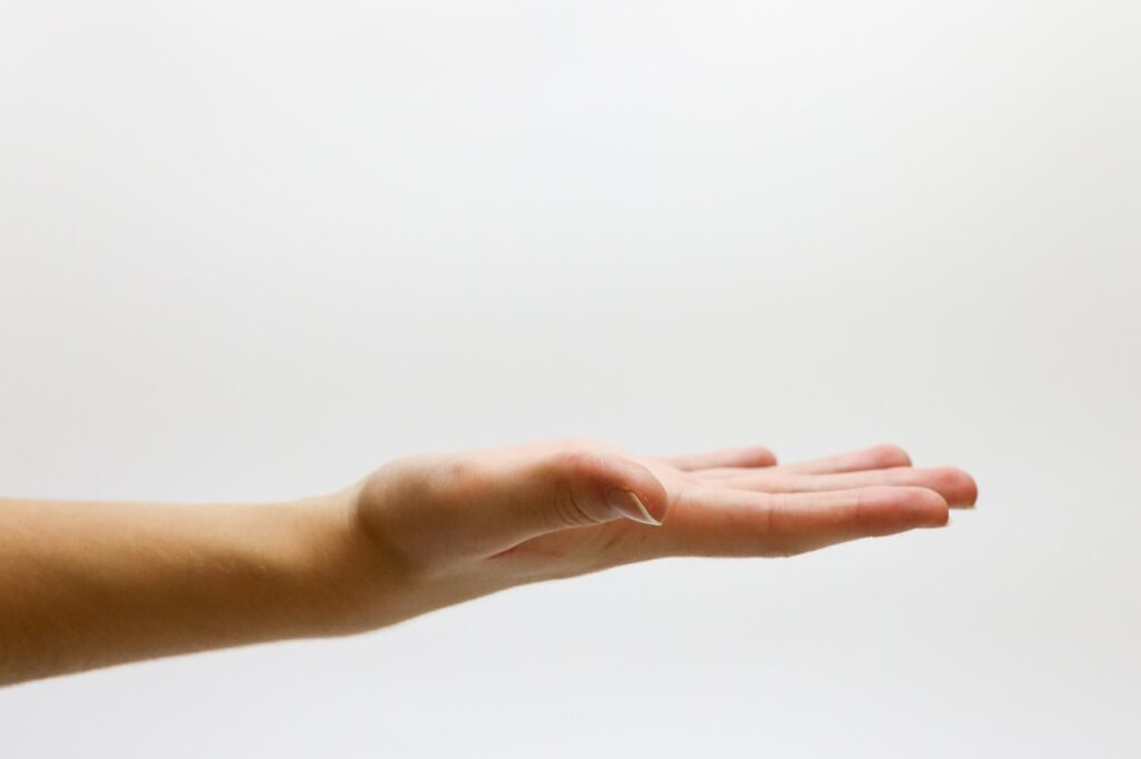 An open hand symbolizing the search for the best storage solutions NYC has to offer.