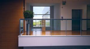 A modern office space.