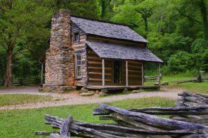 log cabin.