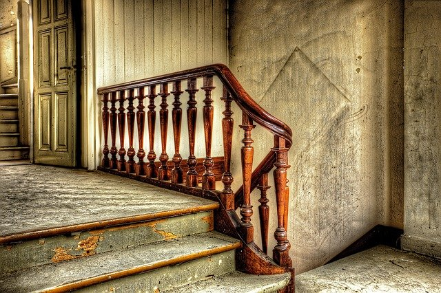 Stairs in an antique house.